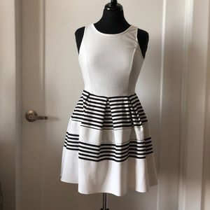 Dresses & Skirts - Black and white striped a-line dress